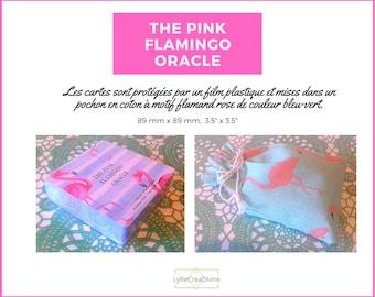 The Pink Flamingo Oracle - 78 cartes oracles - Bilingue français/anglais - Pochon en coton + PDF tirage - Guidance & motivation - Auto-édité