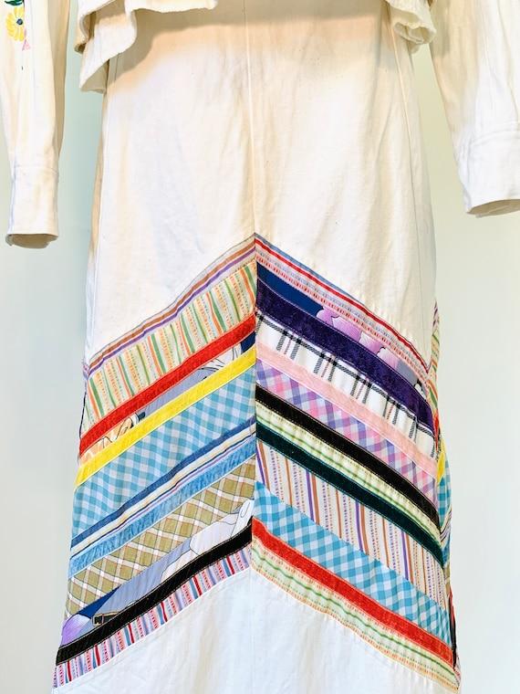 Vintage 70's Wenjilli Floral Embroidered Rainbow … - image 9
