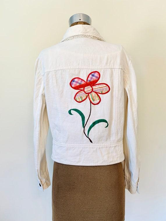 Vintage 70's Wenjilli Floral Embroidered Rainbow … - image 6