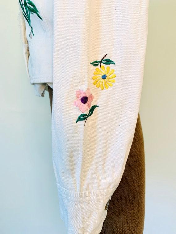 Vintage 70's Wenjilli Floral Embroidered Rainbow … - image 7