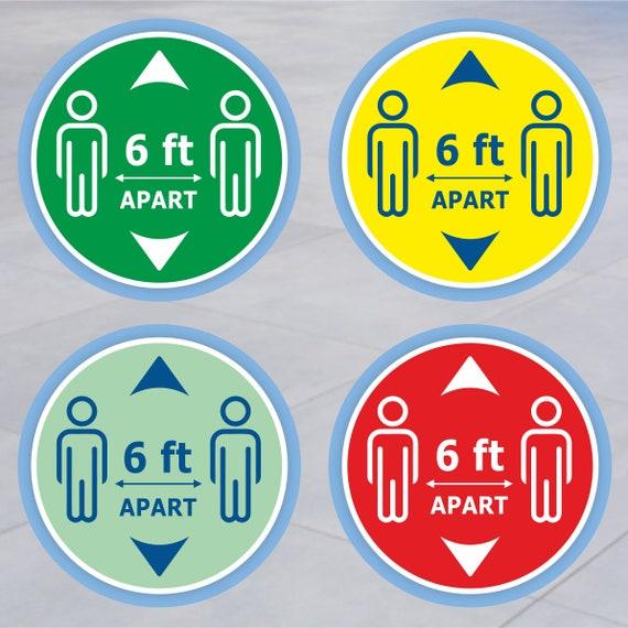 garder Apart 2 M autocollants Social se Sol Autocollant//Décalques-anti glisse