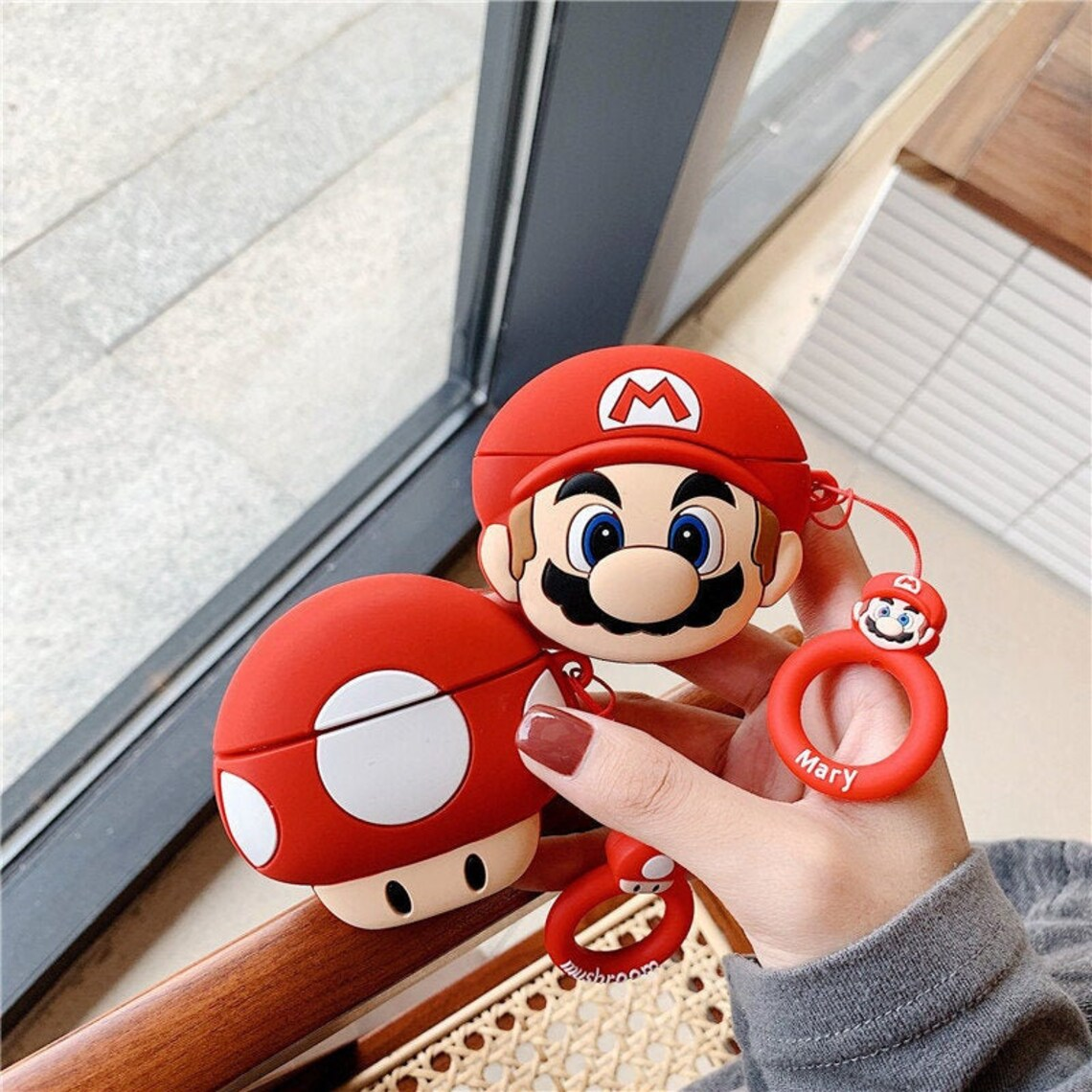 Mario and Toad AirPods Case - For AirPods  1 & 2