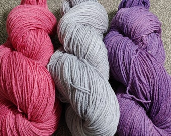 Peruvian Wool! 3-skeins of fun all in one listing! 1377 yards of Fingering, Sock Yarn, Yarn Sets, Hand Dyed, Weaving