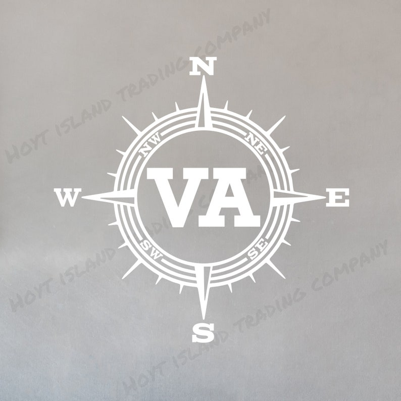 Truck Decal Old Dominion State Decal Shenandoah Park Birthplace of Presidents Decal Skyline Drive Car Sticker Virginia Compass Decal
