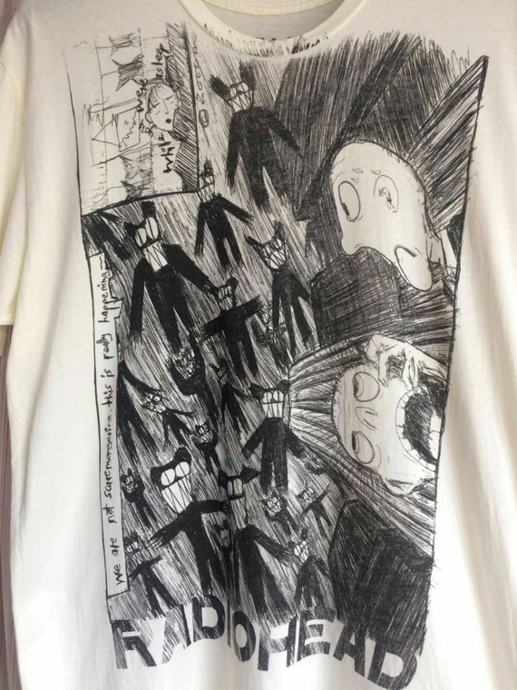 Vintage Radiohead 2000 T-shirt  by W.A.S.T.E size