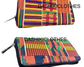 Wax Print Pencil Case Purple Blue African Print Stationery African Print Make Up Bag Lolly /& Kiks Dami Print Ankara Make Up Pouch