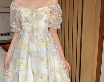 French Dress Vintage, Nap Dress, Summer Dress Women, Vintage Dress, Floral Dress, Nap Dress Women, Cottagecore Dress, Victorian Dress