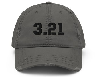3.21, Distressed Hat, Down Syndrome Awareness, Benefits the National Down Syndrome Society, NDSS