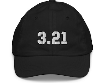 3.21, Youth Baseball Cap, Embroidered, Down Syndrome Awareness, Benefits the National Down Syndrome Society, NDSS
