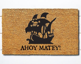 ARghhhhHH Mat-ey Pirate Personalized DOOR SIGN Ds0126