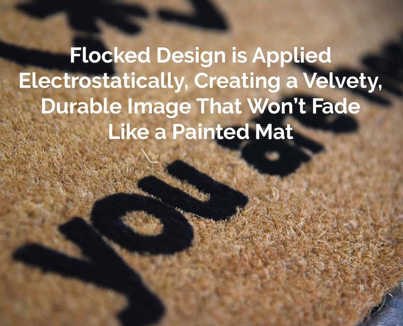 Custom Personalized Family Doormat Welcome Mat Design Your Own Coir Natural Fiber Outdoor Entrance Housewarming Gift Decor Door Mat