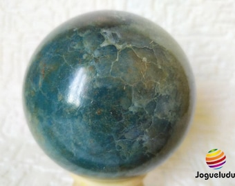 Hikaru Dorodango mm85, decorative ball in raw earth, collectible globe