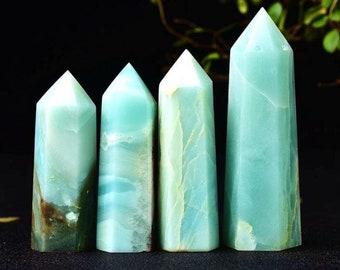 Natural Amazonite Points Wand-Spiritual Meditation Energy Reiki Healing Crystal Quartz Obelisk Points Tower for Home Decoration