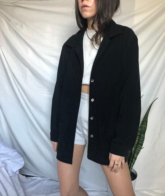 Vintage Black Chore Jacket / Shacket