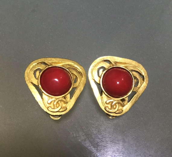 Chanel Vintage Earrings gold-plated 1995