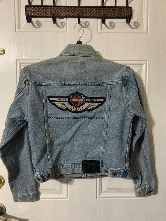 Vintage Harley Davidson denim jacket. - image 1