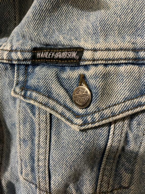 Vintage Harley Davidson denim jacket. - image 2