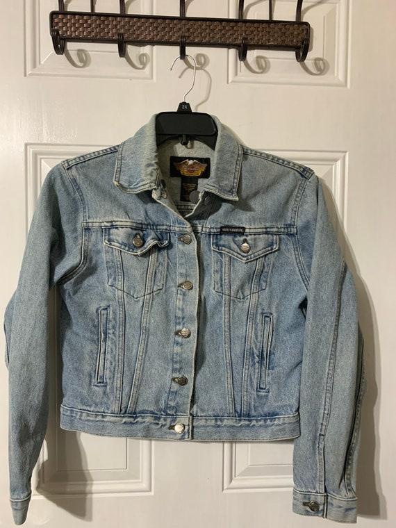 Vintage Harley Davidson denim jacket. - image 4