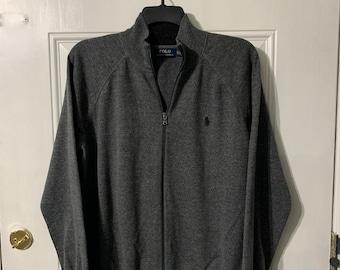 Polo by Ralph Lauren men's zip up sweater size XL.
