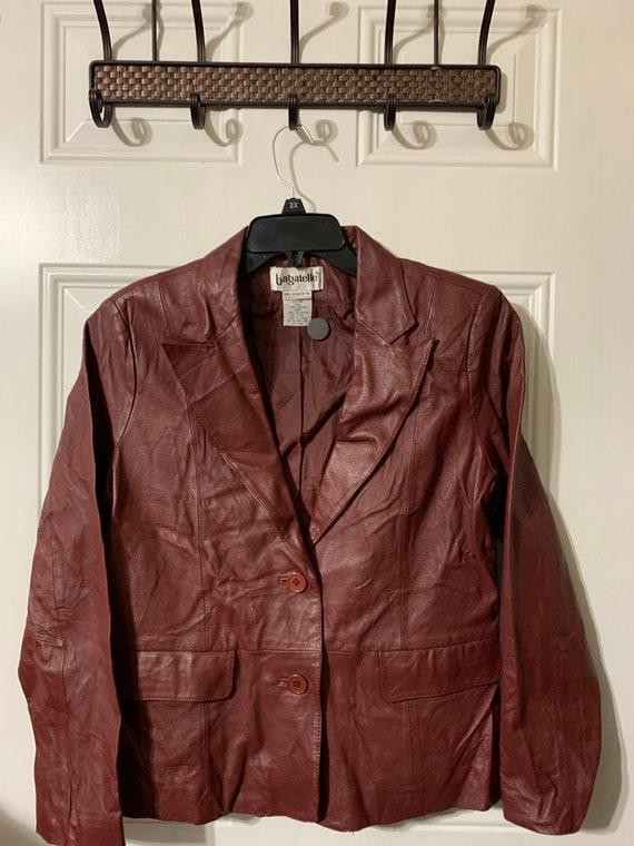 Vintage 90s Bagatelle leather blazer.