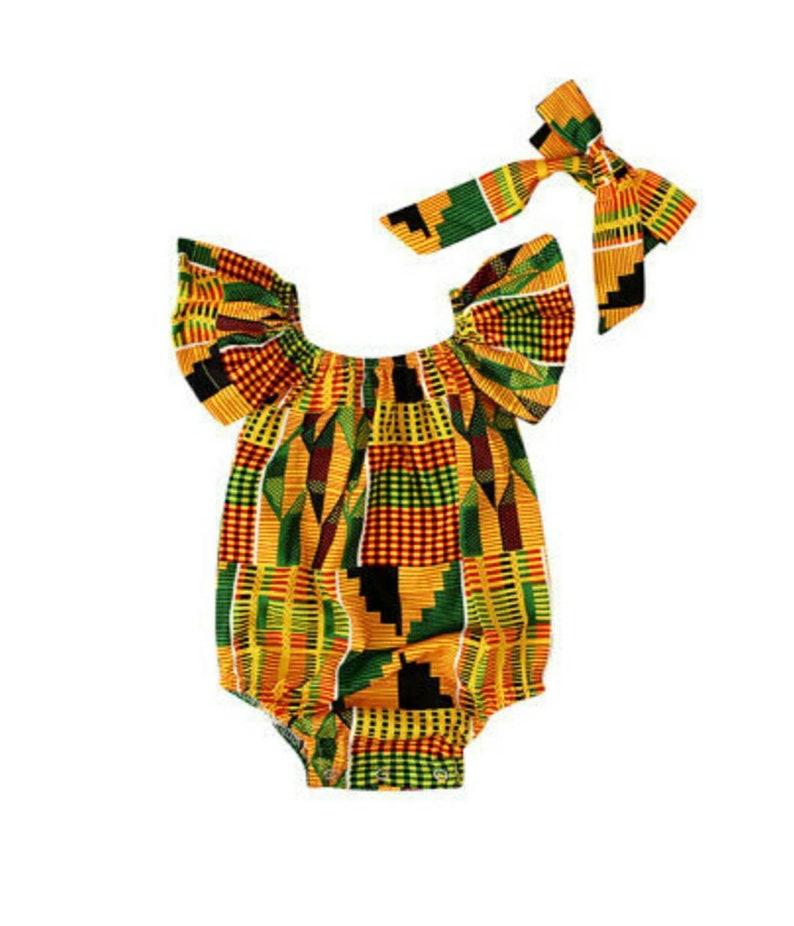 African Print Romper