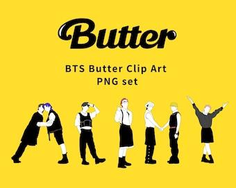 BTS Butter Logo clipart set, Army logo png file,BTS butter wall art poster, room decor,BTS digital download