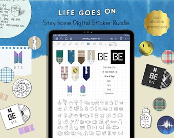 BTS -Life goes on Inspired digital stickers for GoodNotes