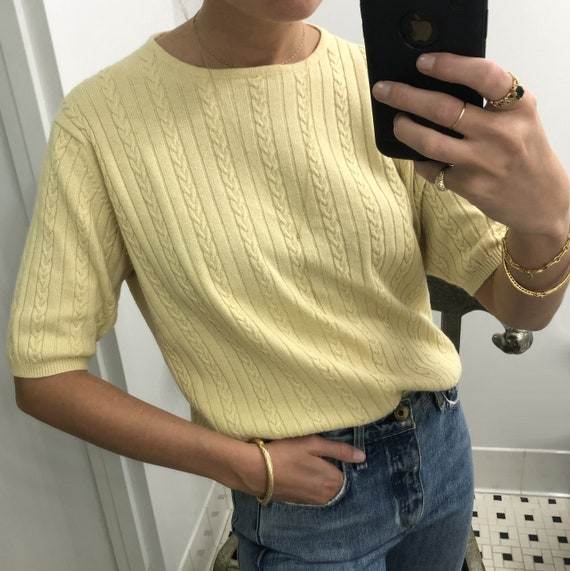 Vintage CASHMERE CABLE-KNIT Sweater - image 2