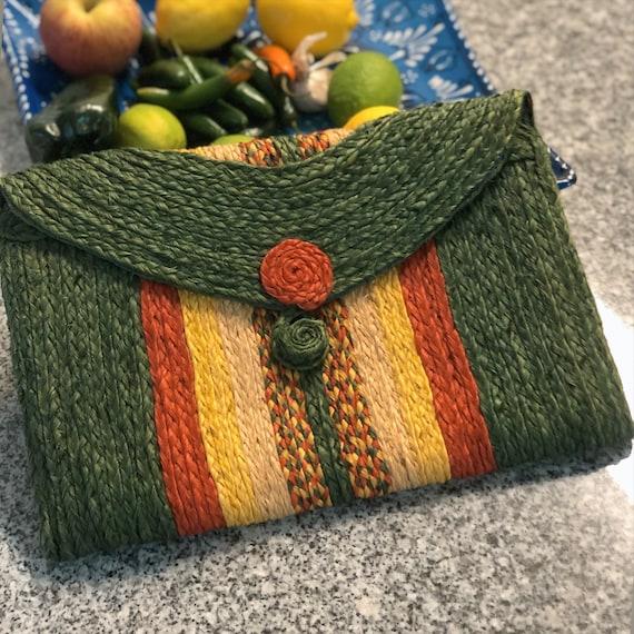 HANDMADE HAITIAN STRAW Clutch  — Straw bag — straw