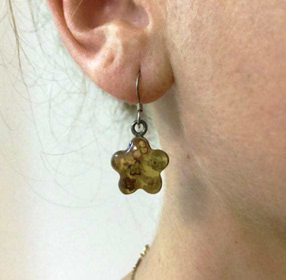 Vintage Mexican Dried-flower Earrings — vintage dr