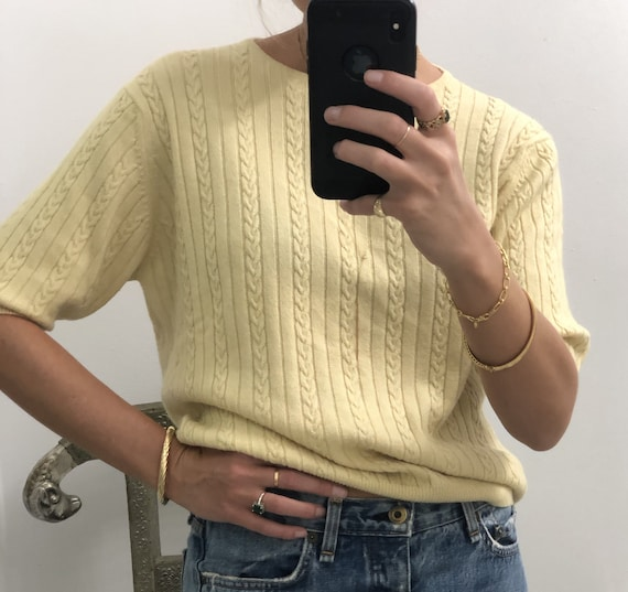 Vintage CASHMERE CABLE-KNIT Sweater - image 3