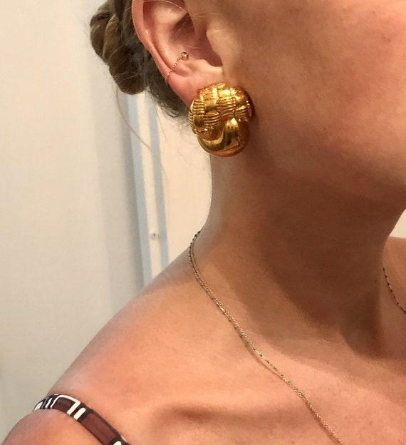 RARE VINTAGE CELINE Earrings     — 80s Celine Ear… - image 1