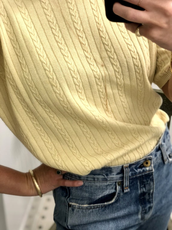Vintage CASHMERE CABLE-KNIT Sweater — vintage cash