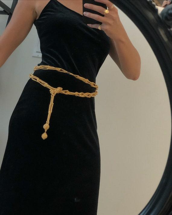 Vintage GOLD MESH BELT — vintage belt — vintage ch
