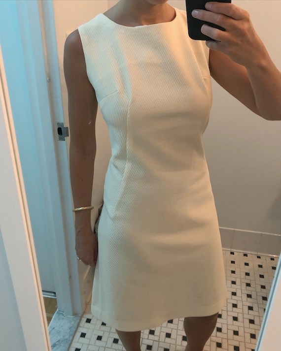 1960s CREAM MOD DRESS