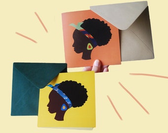Set of postcards   African woman   Duo pack