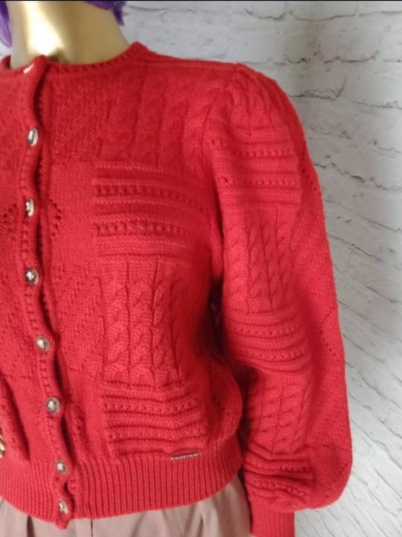 Vintage Austrian cardigan/trachten tyrolean/mutto… - image 6