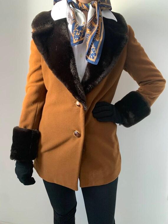 Women's vintage coat with faux fur Nicole Fahri