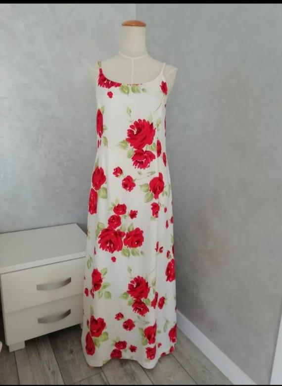 Laura Ashley full length floral summer dress