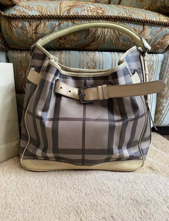 Burberry hobo bag smocked check
