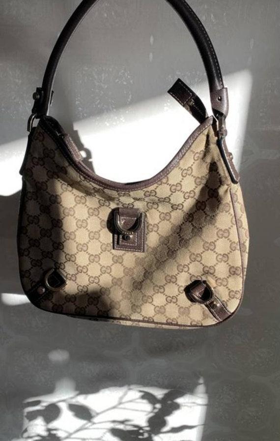 Vintage 80's Gucci bag GG monogram/Authentic Gucci