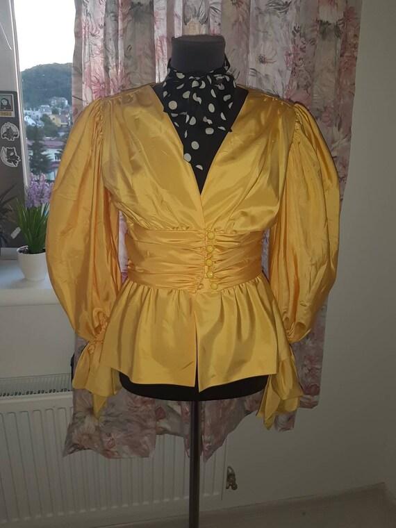 Vintage blouse by designer Frank Usher/France /puf