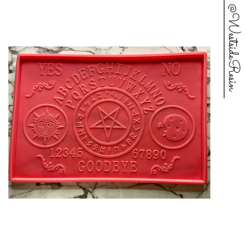X-Large Ouija Board Tray Shiny Silicone Mold for DIY Resin