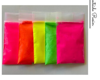Neon Fluorescent Pigment Powders Set for Resin Painting Art Nails