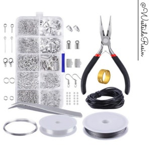 3760Pcs Earring Making Supplies Kit with 6 Colors Earring Hooks,Jump Rings Pliers Earring Back Tweezers for DIY Jewelry Making and Repair