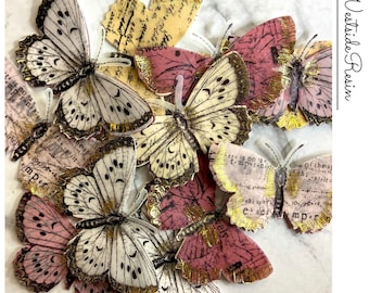 12 Assorted 3D Paper Butterfly Inserts for Crafts