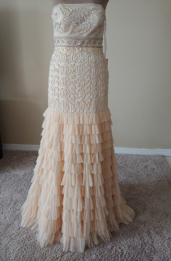 Sue Wong Mermaid Style Embellished Long Gown with