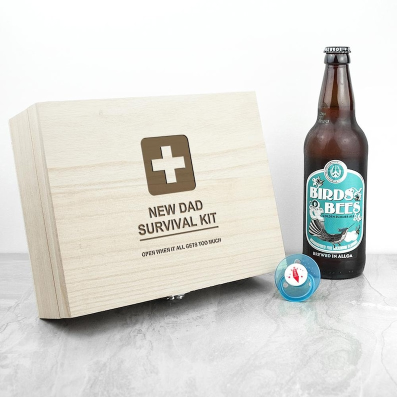 New Baby Father/'s Day Keepsake for New Fathers To Be Personalised Emergency New Dad Kit