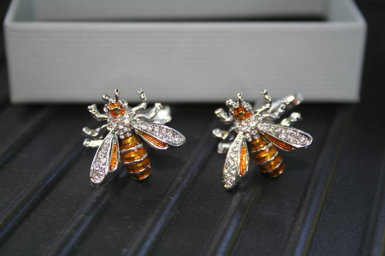 bee kind gifts, bee jewellery Bee Cufflinks bee gifts