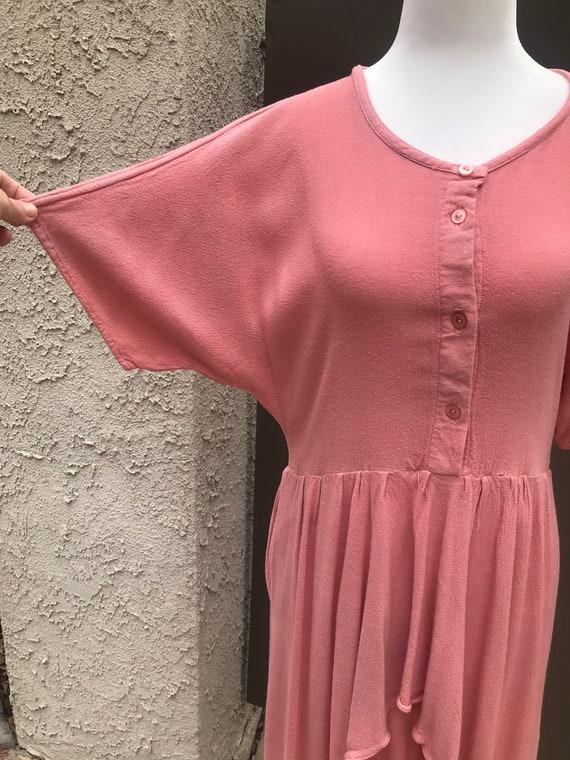 Laise Adzer Pink Boho 1980's Dress - image 5